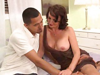 Milf in a great dress eaten out and fucked hard