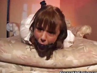 Gagged schoolgirl turns into his sex slave