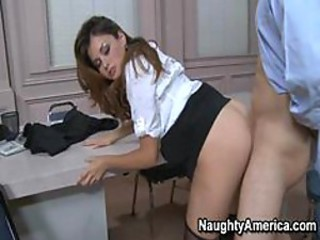 Allie Dimness in Naughty Office