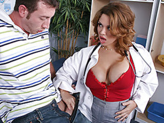 Jordan can't detain thinking about sex and seeing Dr. West's big juggs exclusively makes it worse. He can't detain saying all the exploitative shit he'd like to as a result to her tits. Surprisingly, this situation turns her on a lot. So she asks him to put his pants down and wraps