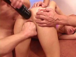 Shannya Tweeks gets a Fist in her Pussy and Two Cocks in her Ass