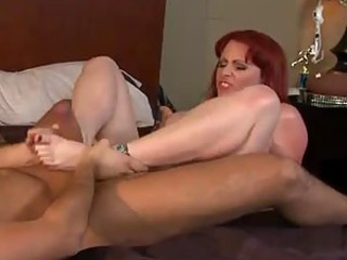 Big Cock Fucks His Mom's Best Friend Until Covering Her Face With Cum