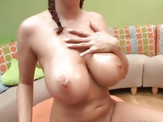 Big wet jiggling tits look super hot