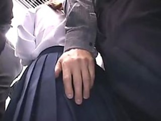 Schoolgirl groped on a train