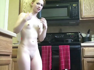 Emi Clear - You are guaranteed to get oh so hungry for sex when watching little Emi cook - simply because she does it with no clothes on. Scrutinize her body now!