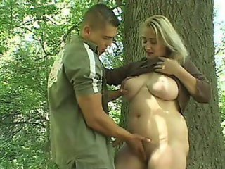 Blonde Mature Shevon Lane Gets Fucked and Facialized In The Woods