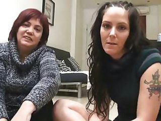 Mom and daughter threesome on hidden cam