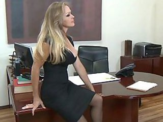 Office milf loves big cock