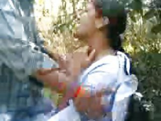 Indian chick fucked in a field