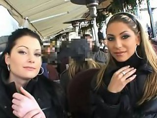Cute Czech Babes Having Fun In Public Places