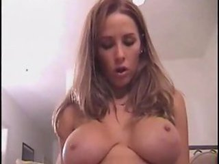 POV BJ and light of one's life with horny big tits girl