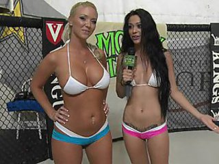 Hot girls learn to wrestle