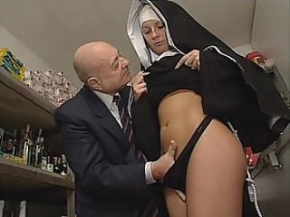 Nun & Dirty ancient man. Only slightly sex