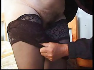 Elderly lady coupled with anal mating