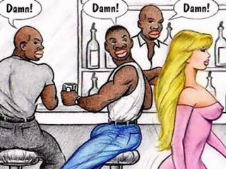 Interracial cartoon comic for your respect