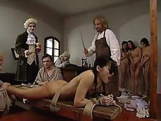 Three girls caned
