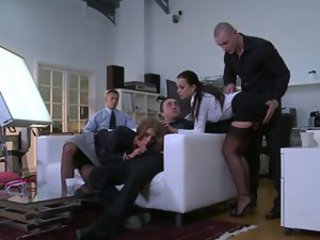 Classy chicks fucked in Euro group scene