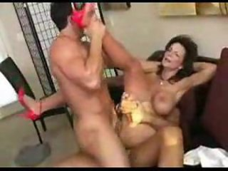 Double penetration milf squirts right away fucked