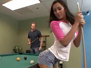 Playful sweety Amea Moretti! btw... Who won the pool game?