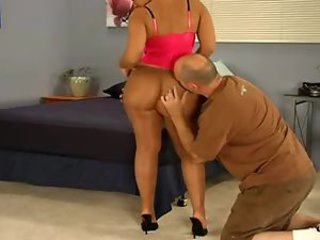 Chick lets him fuck her pantyhose