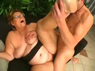 Fat elder statesman slut in glasses craves big dick