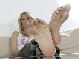 Blue soles of soft feet