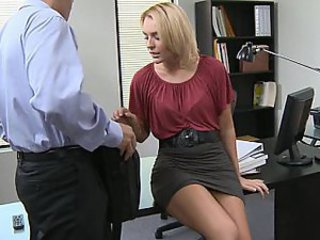 Blonde Office Secretary Skirt