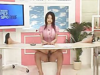 Japanese newsbabe fucked heavens air