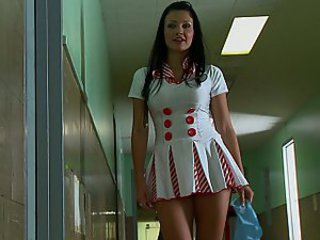 Amazing Brunette Nurse Uniform