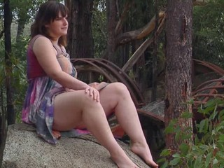 Ilona - Masturbates On A Rock