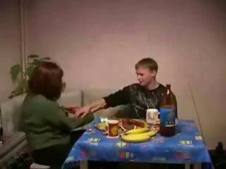 Russian mom celebrating...
