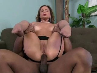 Rebecca loves black cock in...