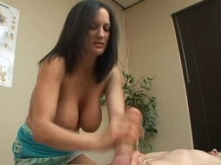 milf big hanging tits gives...