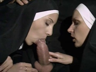 Blowjob European Italian Nun Threesome Uniform