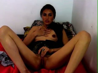 Latina Playing With Her...