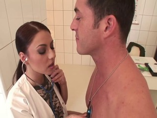 Babe Big Tits Brunette Bus Doctor Nurse Uniform