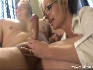 Milf blowjob and facial...