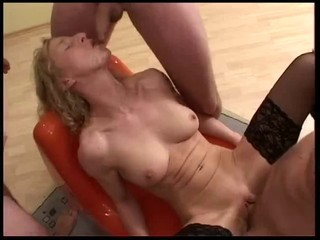 German Mature Gangbang...