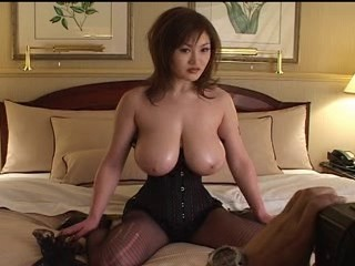 Amazing Asian Big Tits Corset Japanese Natural Pantyhose