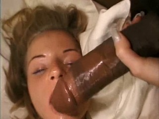 czechgirl Kattra takes 2 black monsters