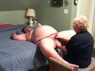 pleasurable handjob wide of wife