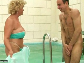 Naughty granny fucking more young boy