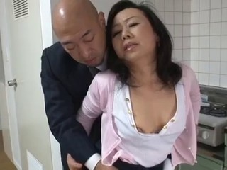 Mature Japanese mother Desires son's friend Cock...
