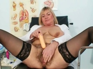 Busty lady Irma got extremly hairy vulva