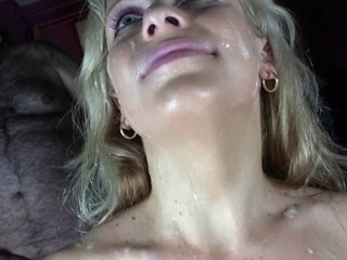 Blonde Spanish Bukkake Slut
