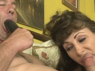 Alexandra Silk Let A Hot Guy Suck A Black Dildo