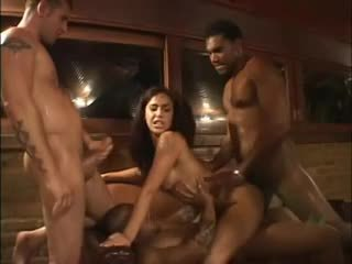 Big cocks gangbang Brazilian slut Monica Mattos