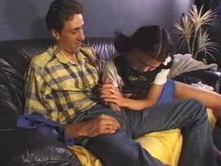 Clothed Cute Daddy Daughter Handjob Pigtail Vintage