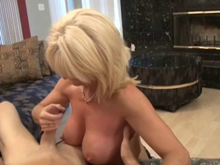 Step Mum Causes Arousel BJ HJ big cumshot fake