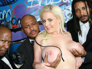 Big Tits Blonde Bukkake Interracial Pornstar